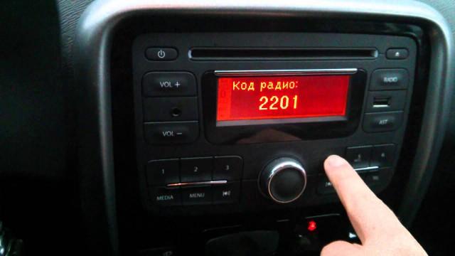 Как ввести код магнитолы (радио) Renault Duster