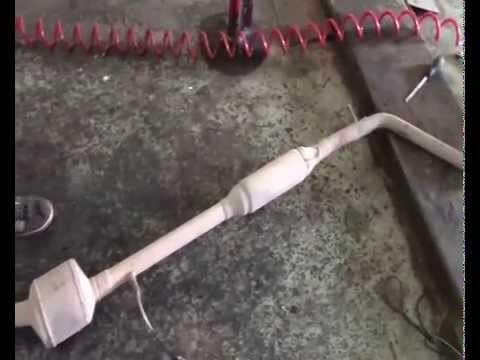 Снятие глушителя Renault Logan