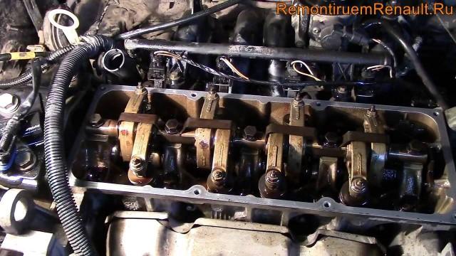 Регулировка клапанов Renault Logan (1.6, 8 клапанов)