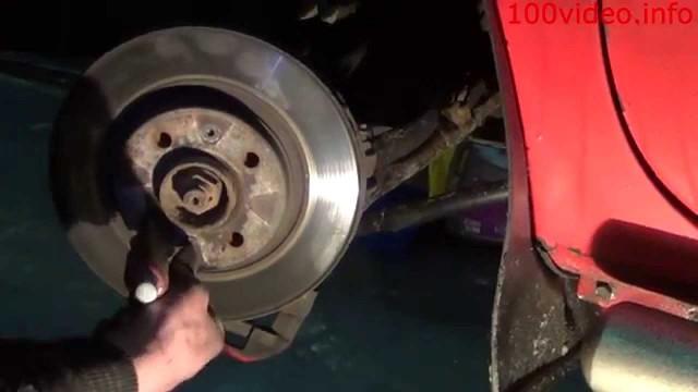 Замена передних тормозных дисков и колодок Renault Kangoo