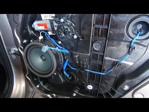 Разборка и снятие двери Hyundai Elantra