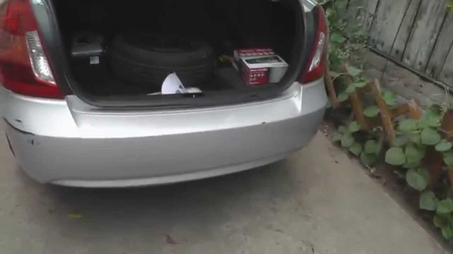 Снятие бампера Hyundai Accent