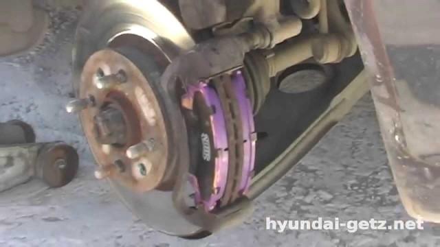 Замена тормозных колодок Hyundai Getz