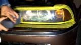 Полировка передних фар BMW E39
