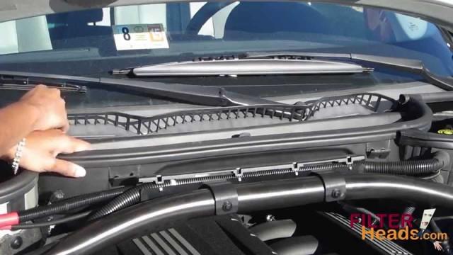 Замена салонного фильтра BMW X3