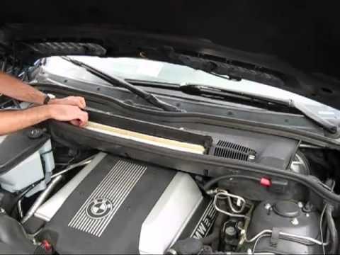 Замена салонного фильтра BMW X5 E53