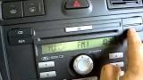 Ввод кода и настройка времени на штатной магнитоле Ford Focus