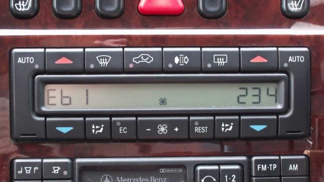 Диагностика климат контроля Mercedes W210