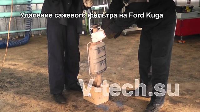Удаление сажевого фильтра Ford Kuga