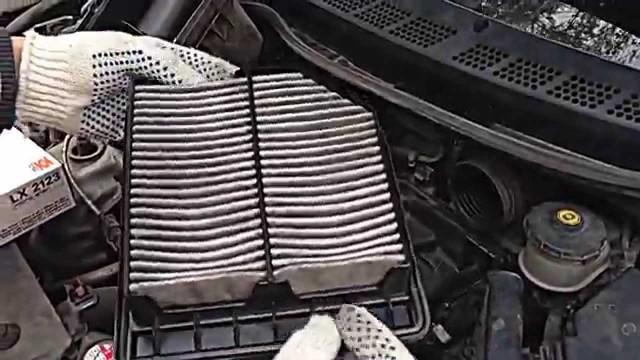 Замена воздушного фильтра Honda Civic 4D