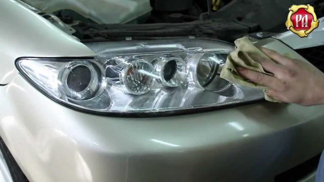 Установка накладок ( реснички) на фары Mazda 6