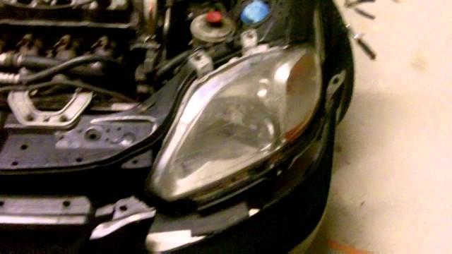 Снятие и замена переднего бампера Honda Civic