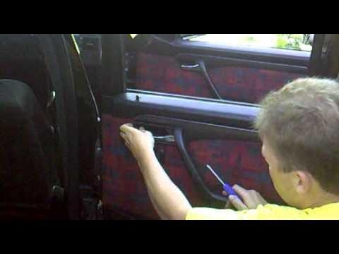 Снятие обшивки двери Mercedes W202