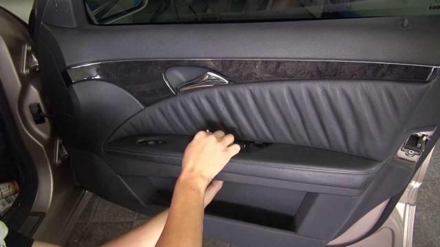Снятие обшивки двери Mercedes W211