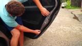 Снятие обшивки двери Mitsubishi Lancer