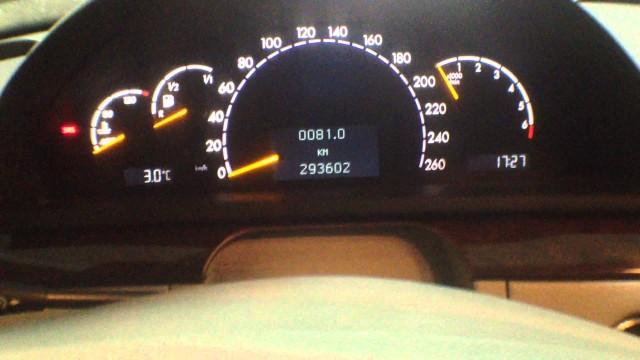Снятие приборной панели Mercedes W220