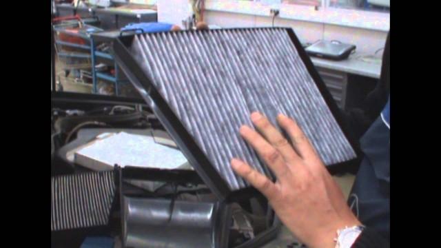 Замена фильтра кондиционера Mercedes W211