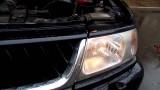 Замена лампы габарита Mitsubishi Pajero