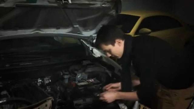 Замена лампы габаритов Nissan Qashqai