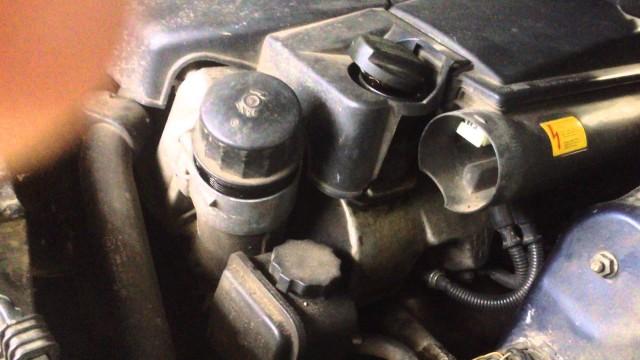 Замена масла в двигателе Mercedes W220