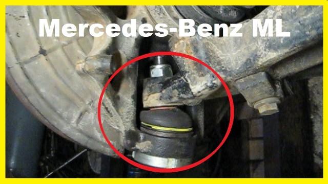 Замена нижней шаровой передней подвески Mercedes W163
