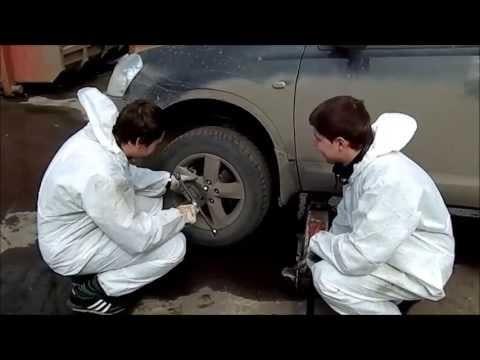 Замена передних тормозных колодок и диска Nissan Qashqai