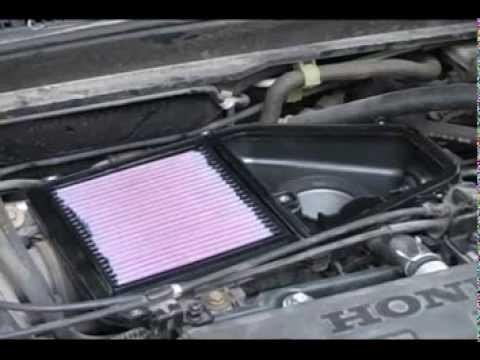 Замена воздушного фильтра двигателя Honda Civic ES1