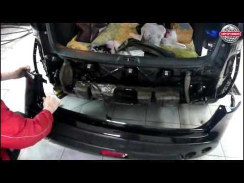 Замена заднего бампера Nissan Qashqai