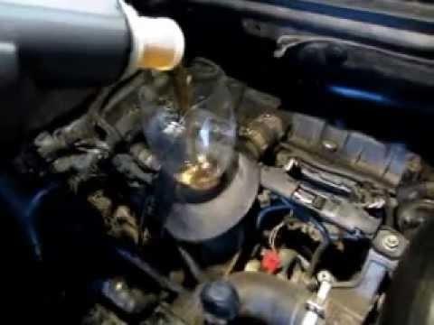 Замена масла и масляного фильтра Peugeot 307