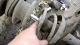 Замена передних амортизаторов Opel Kadett