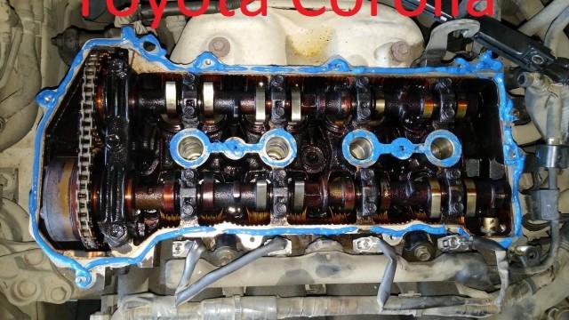 Замена прокладки клапанной крышки Toyota Corolla
