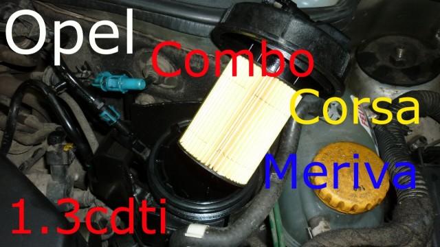 Замена топливного фильтра Opel Corsa С