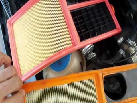 Замена воздушного фильтра Skoda Fabia 1.4