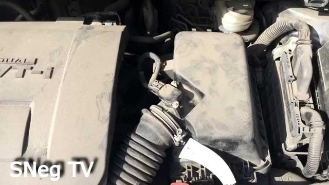 Замена воздушного фильтра Toyota Corolla