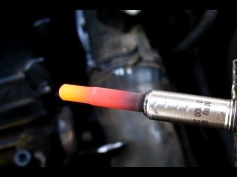 Проверка свечей накаливания Volkswagen Sharan 1,9 TDI ANU