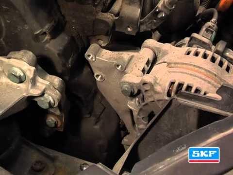 Снятие / Установка ремня и ролика привода агрегатов Volkswagen Sharan