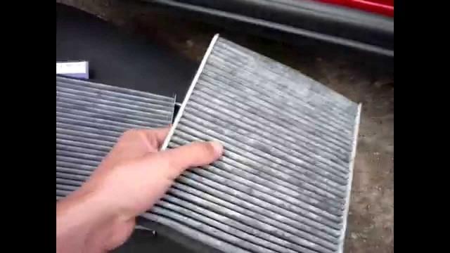 Замена фильтра салона Volvo S40