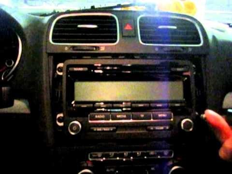 Замена магнитолы Volkswagen Golf 6