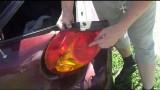 Замена ламп в задних габаритах Kia Spectra