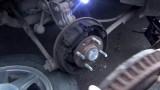 Замена задних тормозных колодок и тормозного барабана Kia Spectra