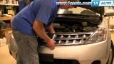 Снятие и замена передней решетки радиатора Nissan Murano