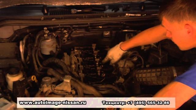 Снятие топливных форсунок Nissan Pathfinder