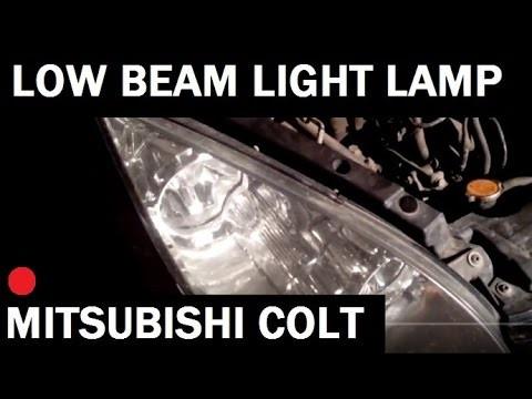 Замена ламп ближнего света Mitsubishi Colt