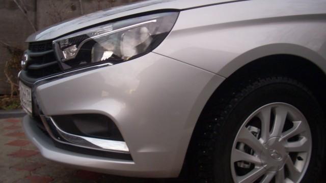 Снятие переднего бампера Lada Vesta
