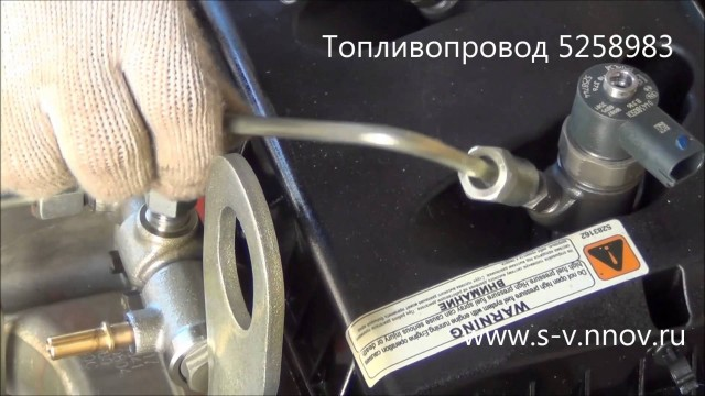 Демонтаж топливопровода с топливной рампы и ТНВД двигателя Cummins ISF 2.8L Газель Next