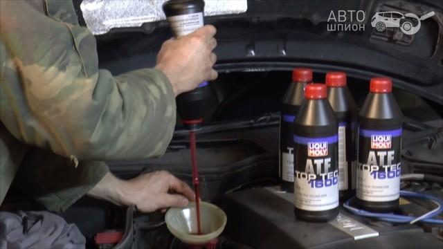 Замена масла в АКПП Mercedes W203