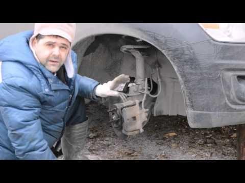 Замена передних тормозных колодок и дисков Mitsubishi ASX