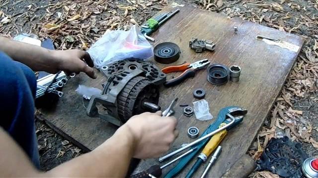 Замена подшипников генератора Nissan Almera Classic