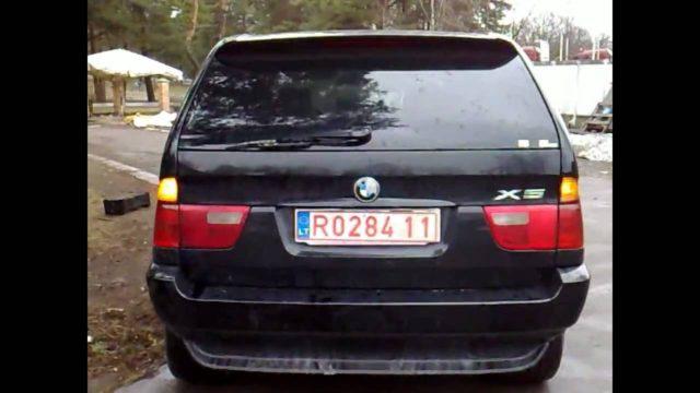 Тонировка фар автомобиля BMW X5