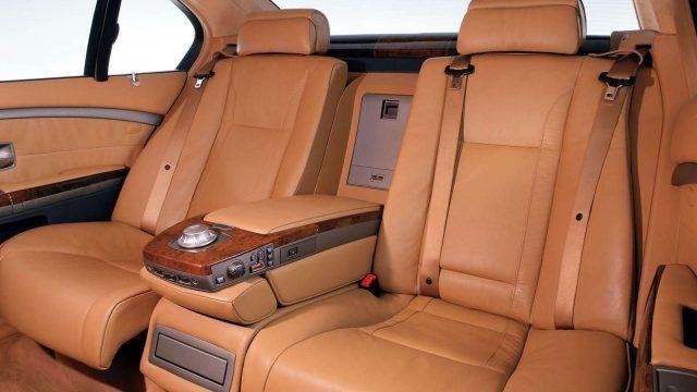 Снятие задних сидений BMW E65, E66